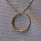 Circle Rhinestone Necklace