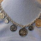 Silver Tone Coins Chain