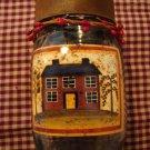 Primitive Tea Light Holder with 12 Soy Tea Lights