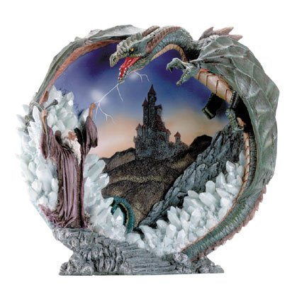 Merlin And Dragon 3-D Plate Item 30725