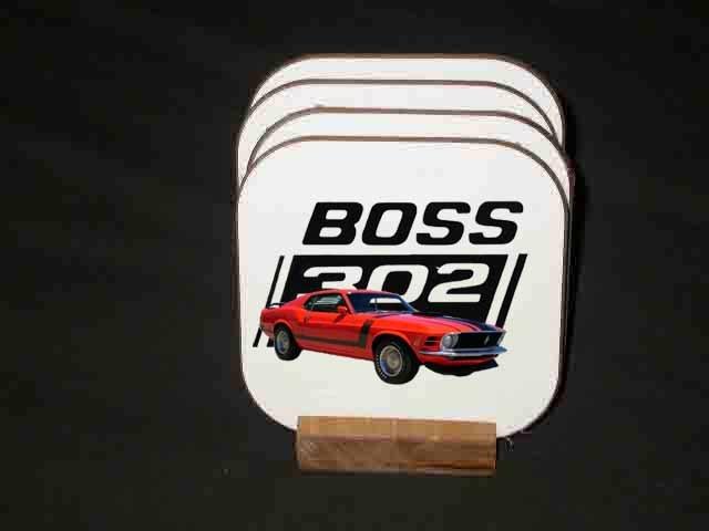 Beautiful 1970 Ford Boss Mustang Hard Coaster set!