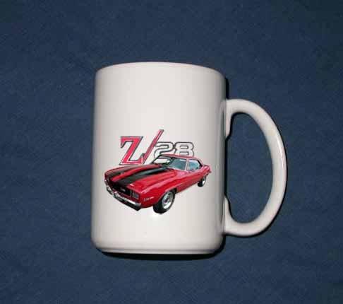 Huge 15 oz. 1969 Chevy Camaro Z28 mug!