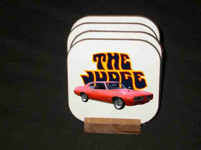 New 1969 Pontiac GTO Judge Hard Coaster set!