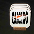 """New 1969 Chevy Camaro Pace Car """"In Letters"""" Hard Coaster set!!"""