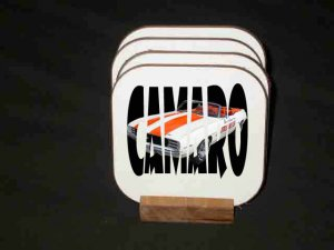 "New 1969 Chevy Camaro Pace Car ""In Letters"" Hard Coaster set!!"