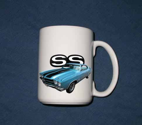New 15 oz. Blue 1970 Chevy Chevelle SS mug!