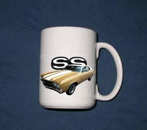 New 15 oz. Gold 1970 Chevy Chevelle SS mug!
