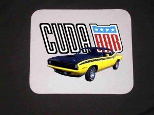 New 1970 Yellow Plymouth AAR Cuda Mousepad!!