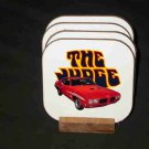 New 1970 Red Pontiac GTO Judge Hard Coaster set!