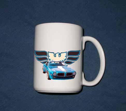 New Huge 15 Oz. Blue 1970 Pontiac Trans AM Mug
