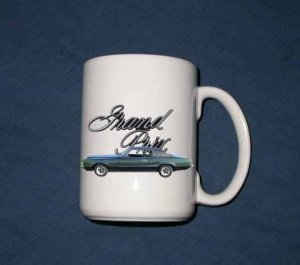 New Huge 15 Oz. 1969 Pontiac Grand Prix Mug