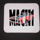 New Red 1969 Ford Mustang Mach 1 in Letters Mousepad!