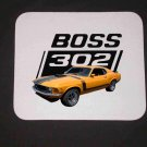 New Orange 1970 Ford Boss Mustang Mousepad!