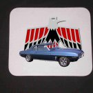 New 1969 Blue Pontiac Firebird Mousepad!