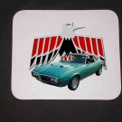 New 1968 Turquoise Pontiac Firebird convertible Mousepad!
