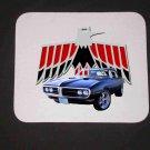 New 1968 Black Pontiac Firebird Convertible Mousepad!