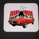 New 1967 Red Pontiac Firebird Convertible Mousepad!
