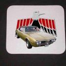 New 1967 Gold Pontiac Firebird Convertible Mousepad!
