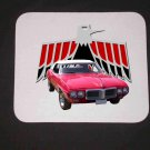 New 1969 Red Pontiac Firebird Convertible Mousepad!