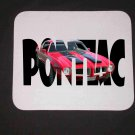 New 1971 Red/Black Pontiac Formula Firebird w/ letters Mousepad!