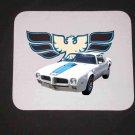 New 1972 White Pontiac Trans AM Mousepad!
