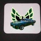 New 1973 Green Pontiac Trans AM Mousepad!