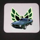 New 1973 Green w/o Eagle Pontiac Trans AM Mousepad!