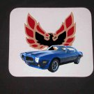 New 1973 Blue Pontiac Formula Firebird Mousepad!