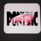 New 1974 Red Pontiac Trans AM w/ letters Mousepad!
