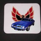 New 1974 Blue Pontiac Formula Firebird Mousepad!