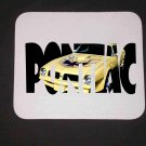 New 1976 Yellow Pontiac Trans AM w/ letters Mousepad!