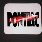 New 1977 Red Pontiac Formula Firebird w/ letters Mousepad!