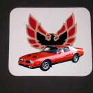New 1977 Red Pontiac Formula Firebird Mousepad!