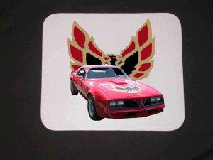 New 1978 Red Pontiac Trans AM Mousepad!