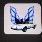 New 1979 White Pontiac Formula Firebird Mousepad!