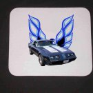 New 1981 Blue Pontiac Formula Firebird Mousepad!