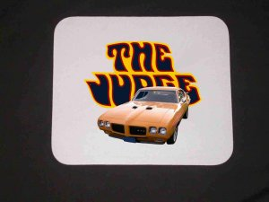 New Orbit Orange 1970 Pontiac GTO Judge Mousepad!