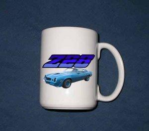 New 15 oz. Blue 1979 Chevy Camaro Z28  mug!