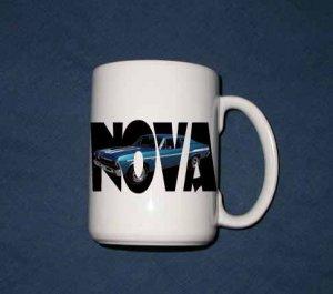 New 15 oz. Blue 1969 Chevy Yenko Nova w/letters mug!