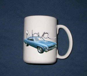 New 15 oz. Blue 1972 Chevy Nova SS mug!