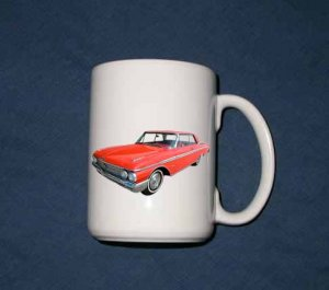 New 15 oz. Red 1962 Ford Galaxie mug!