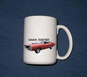 New 15 oz. 1969 Ford Gran Torino Cobra Jet mug!