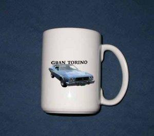 New 15 oz. Blue 1973 Ford Gran Torino mug!