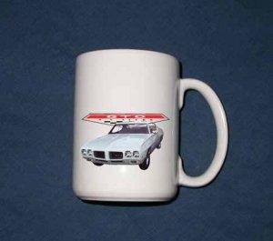 New Huge 15 Oz. White 1970 Pontiac GTO Mug