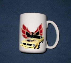 New Huge 15 Oz. Yellow 1976 Pontiac Trans AM Mug