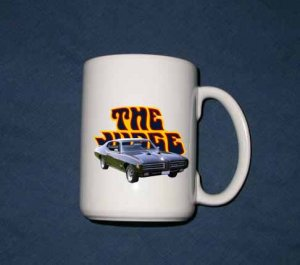 New Huge 15 Oz. Black 1969 Pontiac GTO Judge Mug