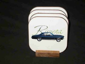 New Blue 1965 Buick Riviera Hard Coaster set!!