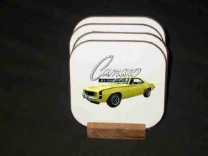 New Yellow 1969 Chevy Camaro RS/SS Hard Coaster set!!