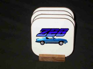 New Blue 1981 Chevy Camaro Z28  Hard Coaster set!!