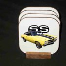 New Yellow 1970 Chevy Chevelle SS Hard Coaster set!!